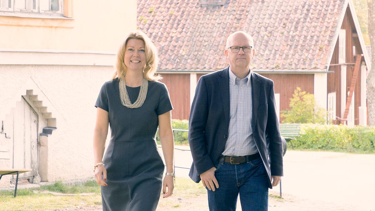 Anna Wiklund, rektor och Dag Ingvar Nilson, bitr. rektor